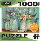 """Mason Flowers - Jigsaw Puzzle 1000 Pieces 29""""X20"""""""