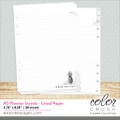 Color Crush A5 Planner Lined Paper Inserts