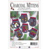 """4""""X4.5"""" - Charcoal Mittens Ornament Kit 6/Pkg"""