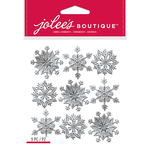 Silver Snowflakes - Jolee's Boutique Dimensional Stickers