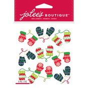 Holiday Mittens - Jolee's Boutique Dimensional Stickers