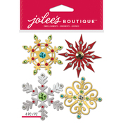 Metallic Snowflakes - Jolee's Boutique Dimensional Stickers