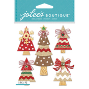 Holiday Burlap Trees - Jolee's Boutique Dimensional Stickers