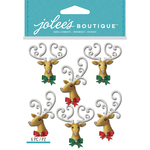 Glittered Deer Head - Jolee's Boutique Dimensional Stickers