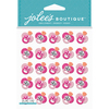Pink Glitter Pacifier - Jolee's Boutique Dimensional Stickers
