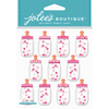 Baby Girl Bottle Dome - Jolee's Boutique Dimensional Stickers