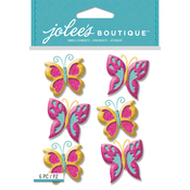 Glitter Butterfly - Jolee's Boutique Dimensional Stickers