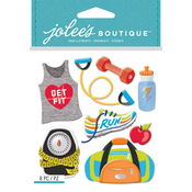Get Fit - Jolee's Boutique Dimensional Stickers
