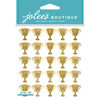 Gold Glitter Trophy - Jolee's Boutique Dimensional Stickers