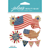 American Flag - Jolee's Boutique Dimensional Stickers