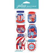 Patriotic Mason Jars - Jolee's Boutique Dimensional Stickers