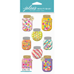 Confetti Mason Jars - Jolee's Boutique Dimensional Stickers