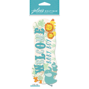 Welcome Baby Boy - Jolee's Boutique Dimensional Stickers
