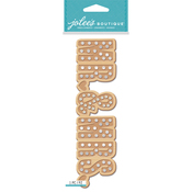 Mr. & Mrs. Marquee - Jolee's Boutique Title Waves Dimensional Stickers