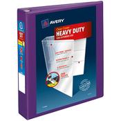 """Purple - Heavy-Duty View Binder 1.5"""""""