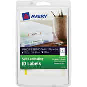 ".66""X3.375"" 4/Pkg - Self-Laminating ID Labels"