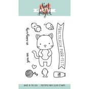 """Kitty's Favorite Thing - Neat & Tangled Clear Stamps 3""""X4"""""""