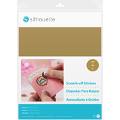 "Gold - Silhouette Printable Scratch-Off Sticker Sheets 8.5""X11"" 5pk"