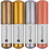 Metallic Gold, Copper, Silver & Bronze - Silhouette Sketch Pens 4/Pkg