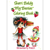 "Strawberry Patch - My Besties Coloring Book 5""X7"" 10 Pages"