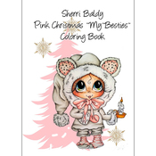 "Pink Christmas - My Besties Coloring Book 8.5""X11"" 10 Pages"