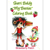"Strawberry Patch - My Besties Coloring Book 8.5""X11"" 10 Pages"
