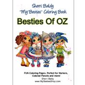 """Besties Of Oz - My Besties Coloring Book 8.5""""X11"""" 10 Pages"""