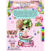 "Ella Bella Buttons & Bows - My Besties Coloring Book 5.25""X8"" 50 Pages"