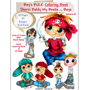 "Boys Rule - My Besties Coloring Book 8.5""X11"" 50 Pages"