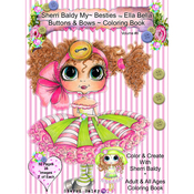 "Ella Bella Buttons & Bows - My Besties Coloring Book 8.5""X11"" 50 Pages"