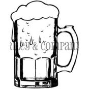 "Large Beer Mug - Riley & Company Cling Stamp 1.5""X2"""