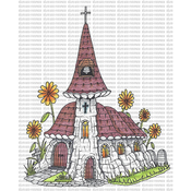 "Church - Riley & Company Mushroom Lane Cling Stamp 3.5""X4.25"""