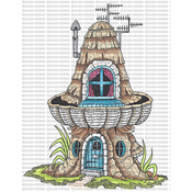 "House 1 - Riley & Company Mushroom Lane Cling Stamp 3""X4"""