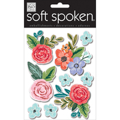 Painted Flowers - Soft Spoken Themed Embellishments