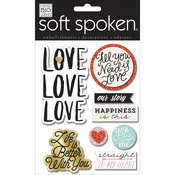Love Love Love - Soft Spoken Themed Embellishments