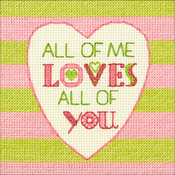 "5""X5"" 14 Count - Cathy Heck All Of Me Counted Cross Stitch Kit"