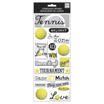Tennis - Designer Chipboard Stickers