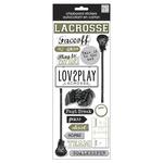 Lacrosse - Designer Chipboard Stickers