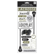 Lacrosse - Designer Chipboard Stickers