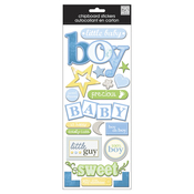 Baby Boy - Flock - Designer Chipboard Stickers