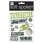 Volleyball - Soft Spoken Themed Embellishments