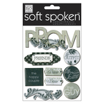 Black & White Prom - Soft Spoken Themed Embellishments
