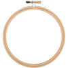 Natural - Wood Embroidery Hoop W/Round Edges 6""