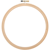 Natural - Wood Embroidery Hoop W/Round Edges 7""