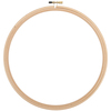 Natural - Wood Embroidery Hoop W/Round Edges 9""