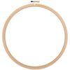 Natural - Wood Embroidery Hoop W/Round Edges 12""