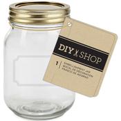 Gold - Diy Shop 4 Mini Mason Jar