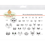 Roundy Emojis - Peachy Keen Stamps Clear Face Assortment 32/Pkg