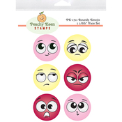 Roundy Emojis - Peachy Keen Stamps Clear Face Set 6/Pkg