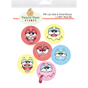 Sick & Tired Emojis - Peachy Keen Stamps Clear Face Set 6/Pkg